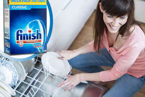 Finish Dishwasher Tablets - 110 Pack of Finish Powerball Dishwasher Tablets - Save 67%