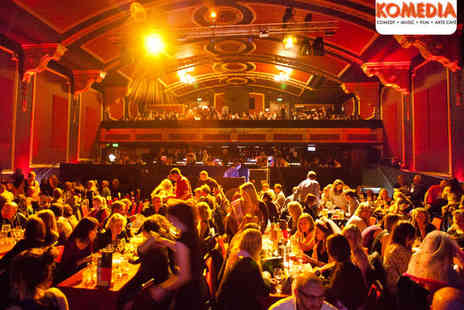Komedia - Two Tickets to Comedy Show with Meal  - Save 51%