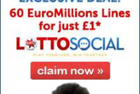 Lotto Social - EuroMillions Superdraw - Save 100%