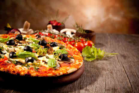 The Neighbours Chef - Two course Italian pizza meal for 2 - Save 74%
