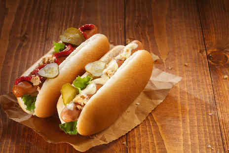 The Punchbowl - Two American hot dogs and fries for 2  - Save 56%