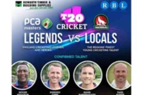 RBL Event Management - One adult ticket to the T20 Legends v Locals cricket match - Save 50%