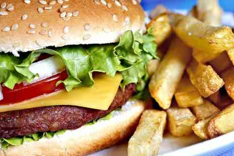 The Pitch Sports Bar & Grill - Burger and Fries With Beer - Save 17%