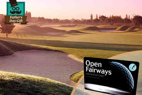 Open Fairways - 12 Month Golfing Privilege Card with Access to 1600 Courses Worldwide, Including 750 UK Courses - Save 72%
