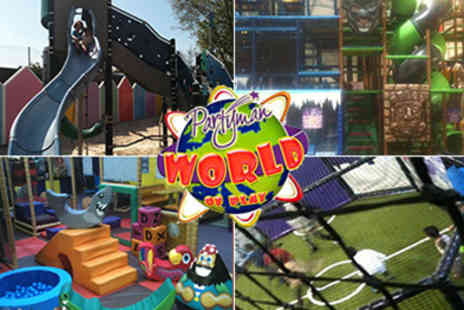 Partyman World of Play - 4 Week Family Pass Unlimited Entry to all 5 centres including the beach - Save 49%