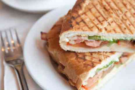 Mikaids Coffee & Sandwich Bar - Two Sandwiches Two Cakes and Two Hot Drinks - Save 66%