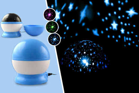 Once Upon a Company - Rotating galaxy night light projector valid in 3 colours  - Save 60%