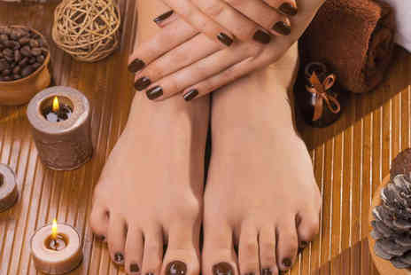 Vintage Nails - Shellac Manicure and Pedicure - Save 55%
