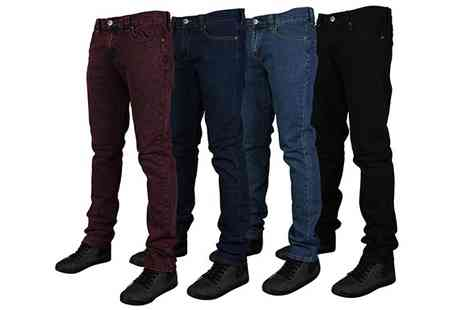 My1stWish - Mens Forge Skinny Fit Stretch Jeans by Kam Jeans - Save 67%