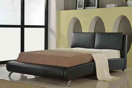Visco Therapy Direct - Faux Leather Bed and Optional High Density Mattress - Save 65%