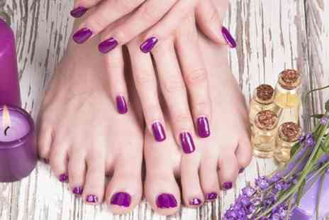 Butterfly Beauty - Shellac Manicure or Pedicure  - Save 59%