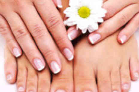 Reem Beauty Boutique - Acrylic nails on fingers and file and polish on toes - Save 74%
