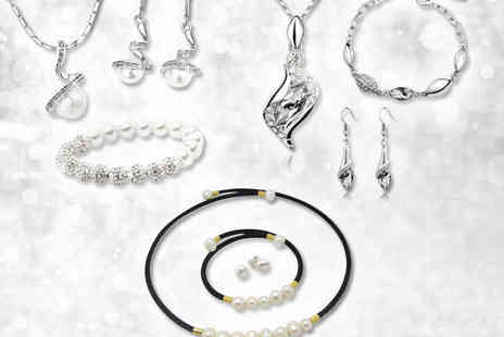 The Elegance Hair Spa  - Choice of Three Piece Jewellery Sets - Save 80%