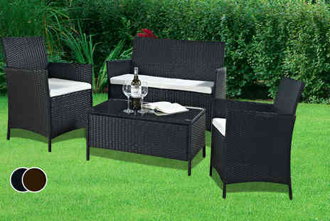 Once Upon a Company - Four piece rattan garden furniture set  - Save 71%