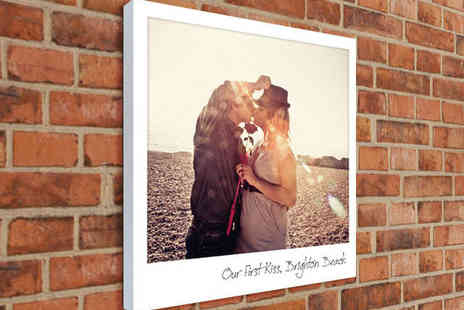 The Image Box - 16x18 inch Polaroid-Style Canvas Print with Personalise Message - Save 79%