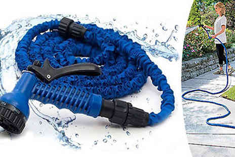 Spice Hot -  25ft Garden Hose with Gun - Save 45%
