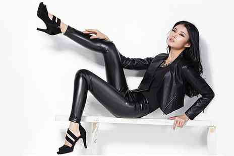 SVB Trading - Leather Look Leggings in Black - Save 48%