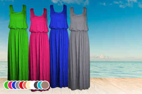 Something About Fashion - Sleeveless toga maxi dress in a choice of 12 colours - Save 55%