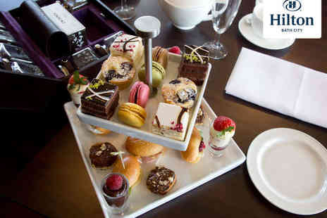 Hilton Bath City Hotel - Afternoon Tea with a Glass of Champagne Each for Two  - Save 66%