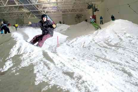 Snow Factor - 90 Minute Beginner Ski or Snowboard Lesson  - Save 52%