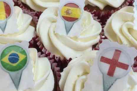 Amore Bakery - 20 International Football Cupcakes  - Save 50%