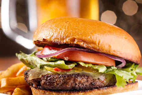 Tilt - Gourmet American Beef or Chicken Burger with Sides and Beer Each for Two  - Save 52%