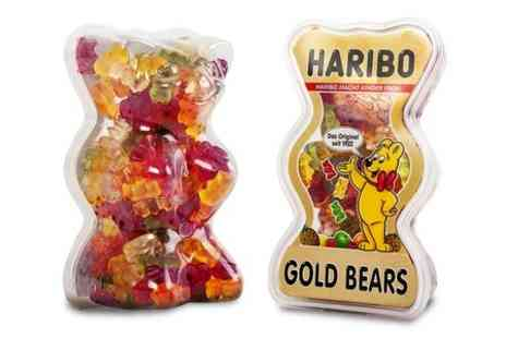 Premium Brands 4 Less - Two 400g Haribo Gold Bears in Gold Bears Shaped Tubs - Save 42%