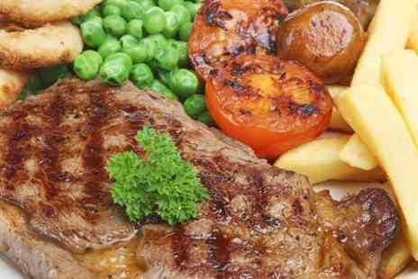 The Farmers Arms - Sirloin Steak and Chips With Wine For Two - Save 54%
