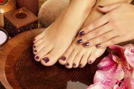 Andrew Joseph Manion Hairdressing - Mini Facial  With Shellac Nails on Hands or Toes  - Save 50%