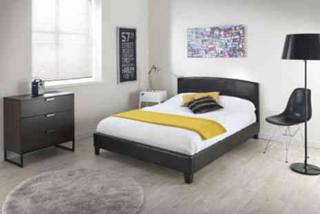 FWG Sales - Double monroe curved bed frame - Save 30%
