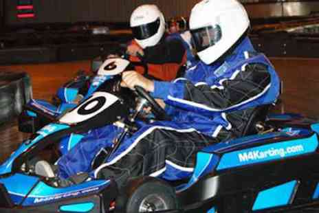 M4 Karting - 30 laps of Go Karting for 1 - Save 50%