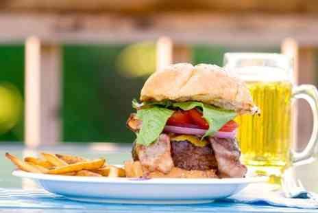 Campus - Burgers or Hot Dogs With Cocktails or Buckets of Beers For Two - Save 52%