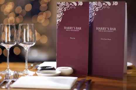 Harrys bar restaurant - Steak Dinner With Wine For Two  - Save 46%
