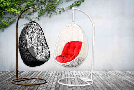 Once Upon a Company - Rattan hanging pod chair in brown or white - Save 60%