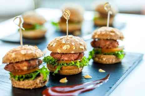 Jerusalem Bar and Kitchen - Mini burger sliders and a 4 cocktail pitcher for two - Save 50%