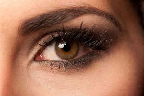 Grand Beauty - Brow and Lash Tint and Brow Wax with a Mini Manicure or Mini Pedicure and Express Lashes - Save 52%