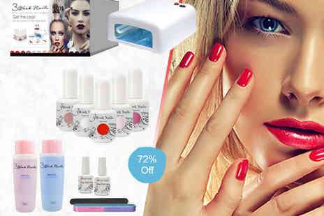 3 Week Nails -  Manicure and Pedicure Kit  - Save 72%