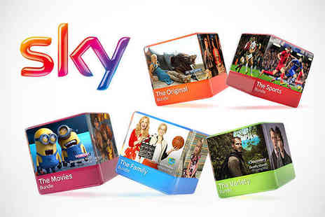 Sky TV -  Voucher for 12 Months Sky TV Bundle  - Save 50%