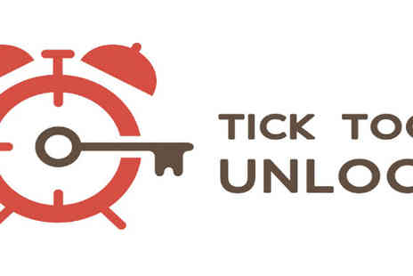 Tick Tock Unlock - 60 Minute Real Life Challenge for up to 5 people - Save 57%