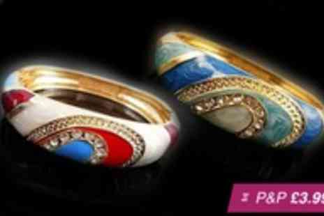 Jewel 2 Sell - Gold plated Cleopatra bangle in a choice of colours - Save 92%