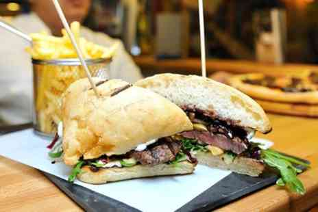 The Circle Eatery - Takeaway Pizza or Burger Plus Beer - Save 53%