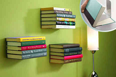 living and beyond - Three Floating Bookshelves - Save 35%