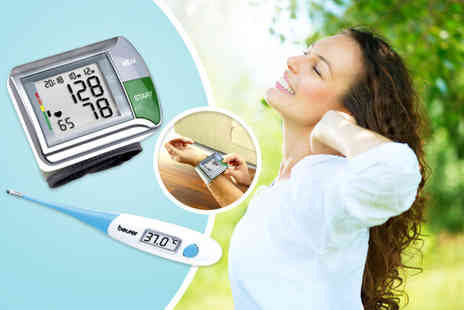 Medhealth Supplies - HGN travel blood pressure monitor and a Beurer FT14 digital thermometer - Save 73%