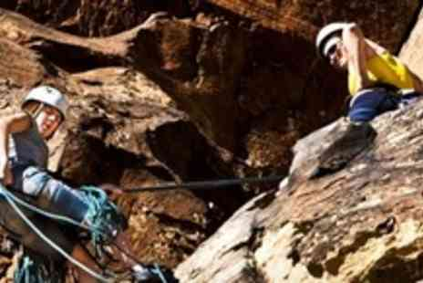 Rock and Ice - 100ft Abseil Experience in the Peak District For One - Save 64%