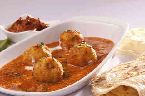 Indigo Bistro - Starter Main, and Poppadom Each for Two - Save 54%