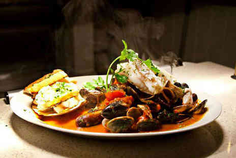 The Italian Club Fish - Three Course Lunch from Set Menu for Two - Save 45%