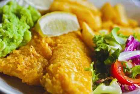 Fish Bone - Fish and Chips With Mushy Peas For One - Save 40%