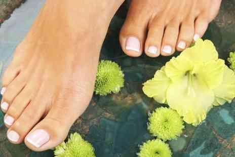 Top 2 Toe Hair - Gellux Manicure or Pedicure - Save 44%
