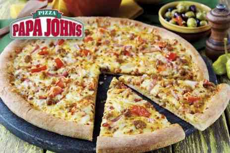 Papa Johns - Free Voucher For Pizza When You Spend £15 or More - Save 100%