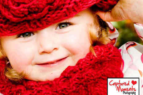 Captured Moments Photography - Choice of Bespoke, Couples, Family, Pregnancy / New Baby Photography Session - Save 92%